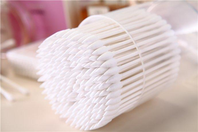 Item No.3004----100 Pcs Paper Stick 100% Pure Cotton Buds Cosmetic Cotton Swabs Packed in PP Can