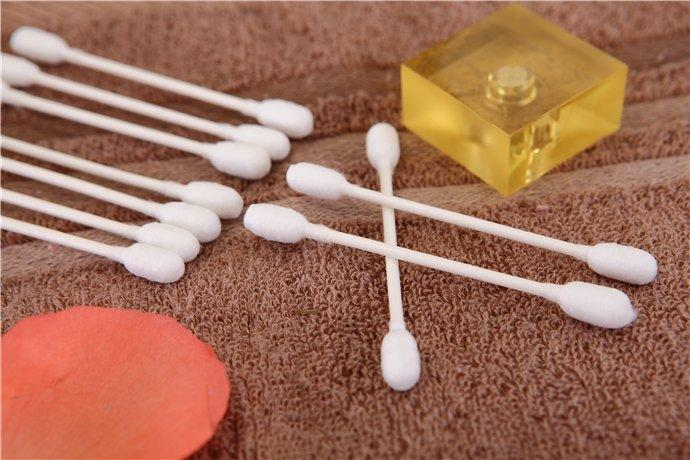 Item No.4016----50 Pcs Paper Stick 100% Pure Bath Cotton Bulk Ear Buds Packed in PP Can