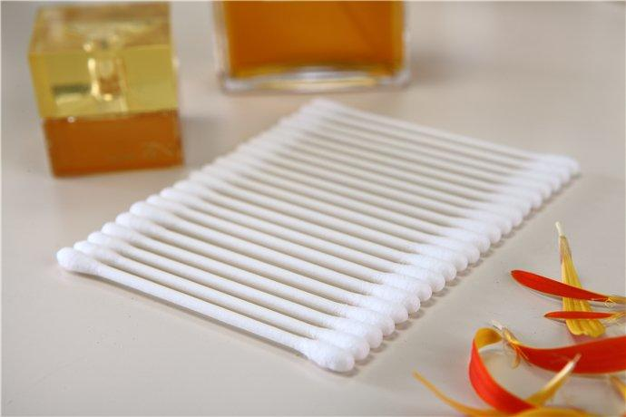 Item No 8016----500 Pcs Paper Stick 100% Pure Cotton Buds Packed in PP Box