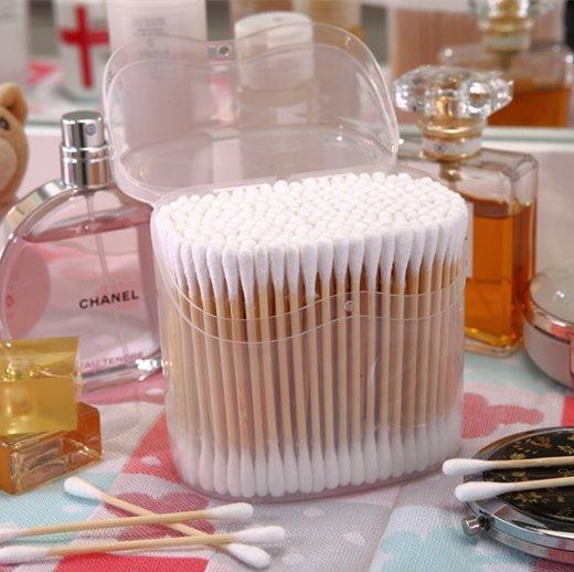 Item No:8062----160 Pcs Bamboo Stick 100% Pure Cotton Buds Packed in PP Box