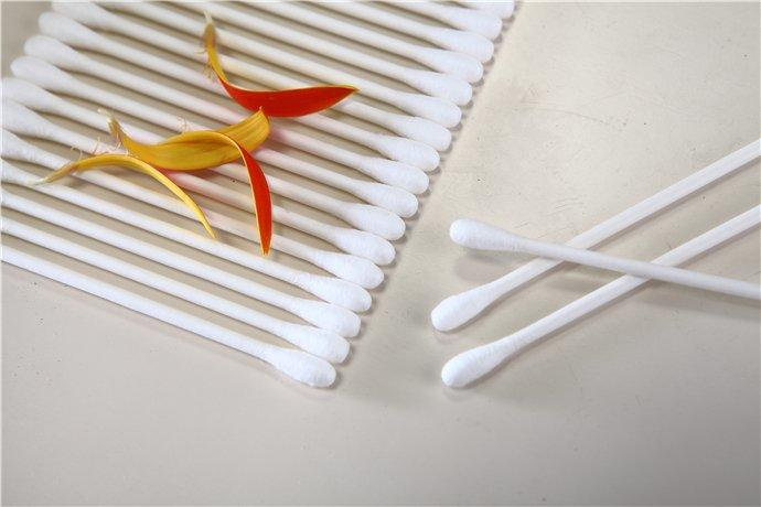 Item No.8015----150 Pcs Paper Stick 100% Pure Cotton Buds Packed in PP Can